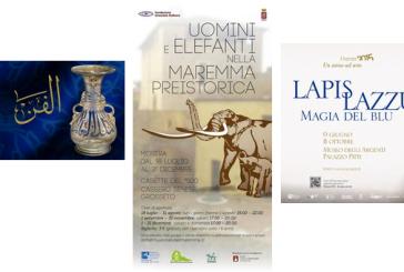 Arte islamica, fossile di elefante, oggetti in lapislazzuli