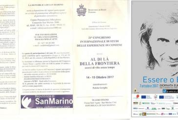 Giornata Europea dei Risvegli – Congresso Internazionale di Studi delle Esperienze di Confine 2017